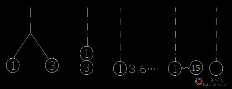 建筑施工图的符号规定之定位轴线-revit-汇识学院
