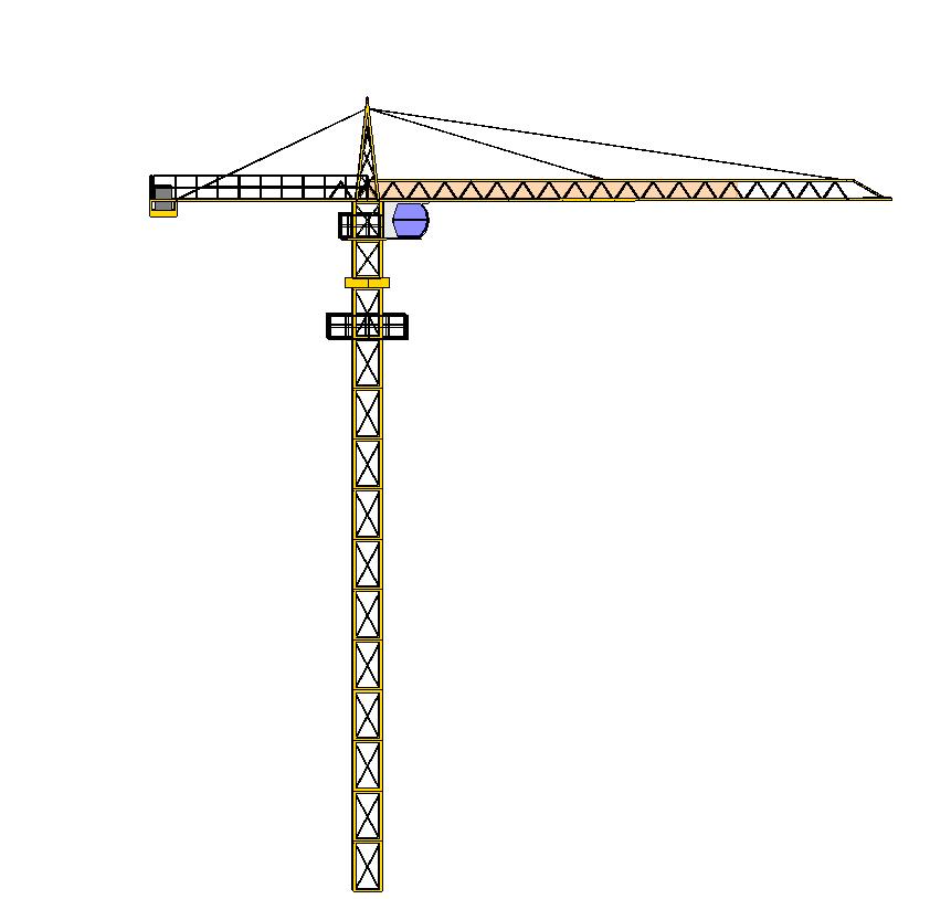 塔吊小车滚筒结构图