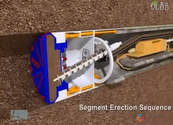 地铁隧道盾构机工作原理